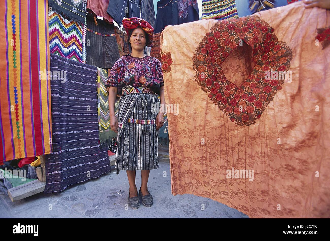 Religious Syncretism Chichicastenango Market Guatemala Central America Stock Image