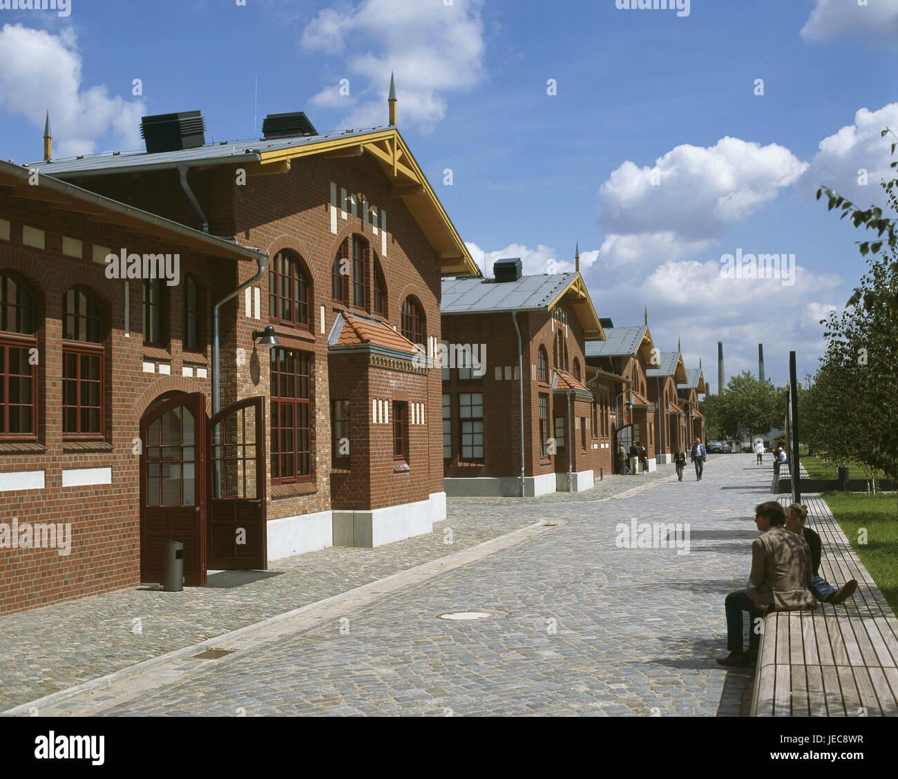 Germany, Hamburg, part of town of Veddel, Ballinstadt, emigrant's museum, 'emigrant's world of Hamburg', visitor, Stock Photo
