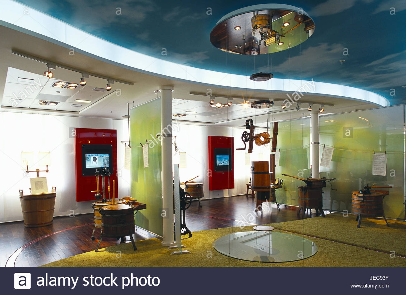 Germany, North Rhine-Westphalia, Gütersloh, Miele museum, domestic appliances, washing machines, Teutoburger - Stock Image