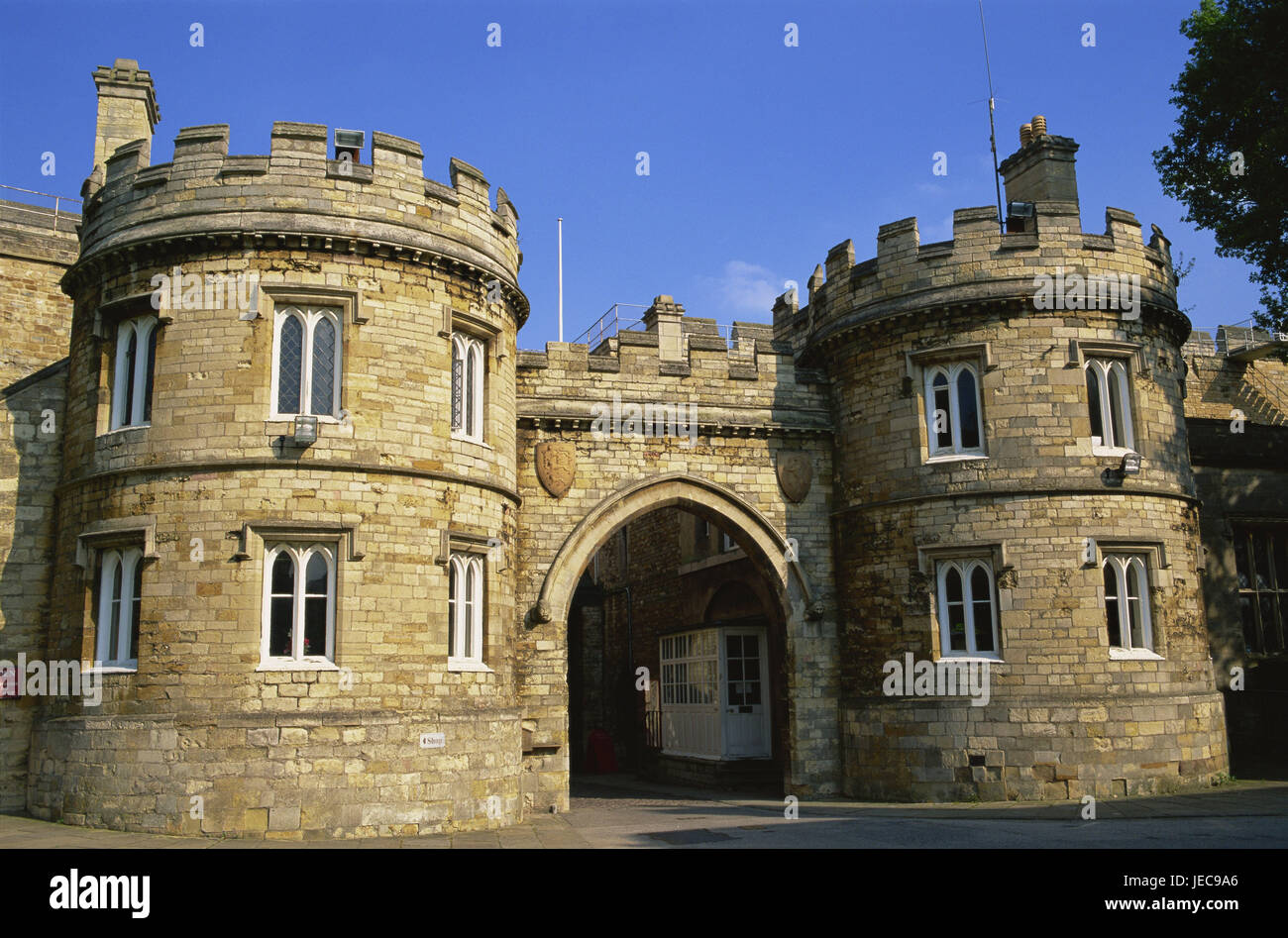 Great Britain, England, Lincolnshire, Lincoln, lock, input, detail, Europe, town, destination, place of interest, - Stock Image