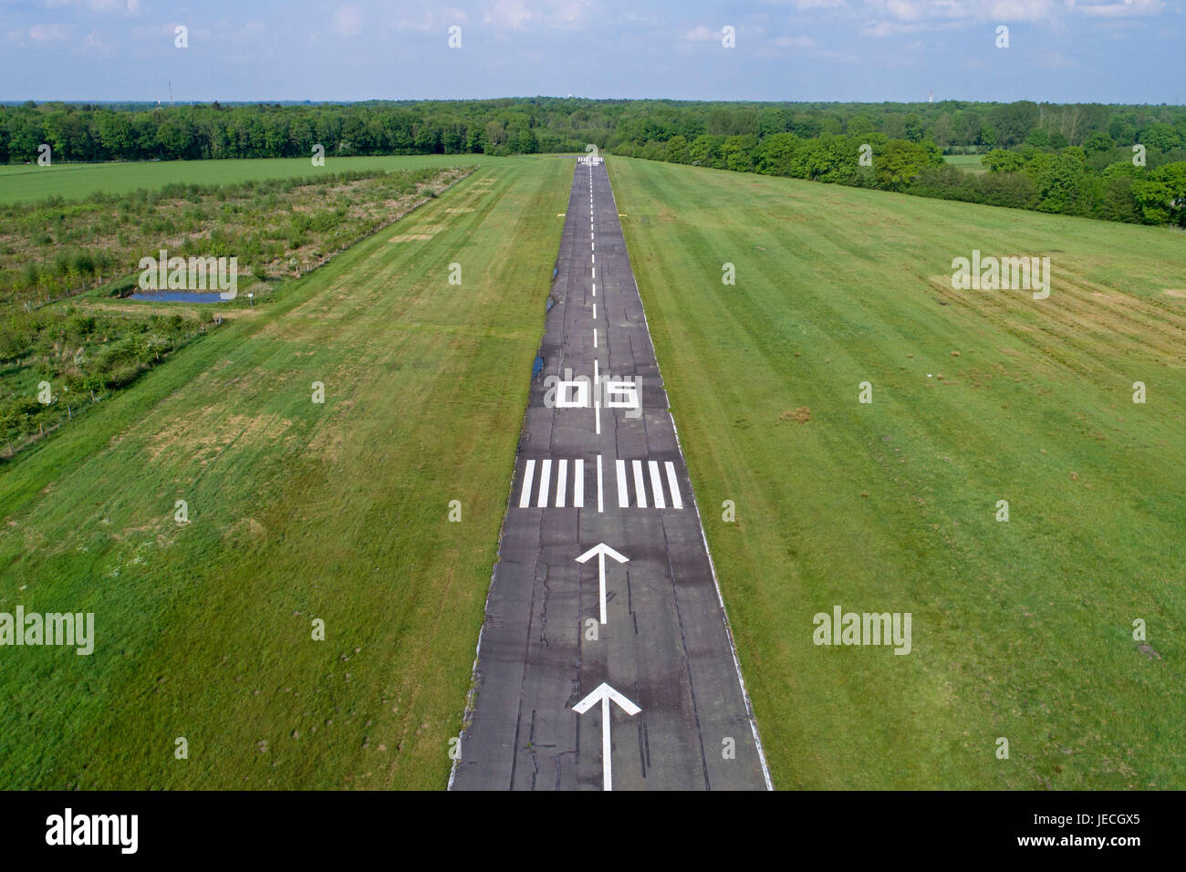 Tornesch airfield, Schleswig-Holstein, Germany - Stock Image