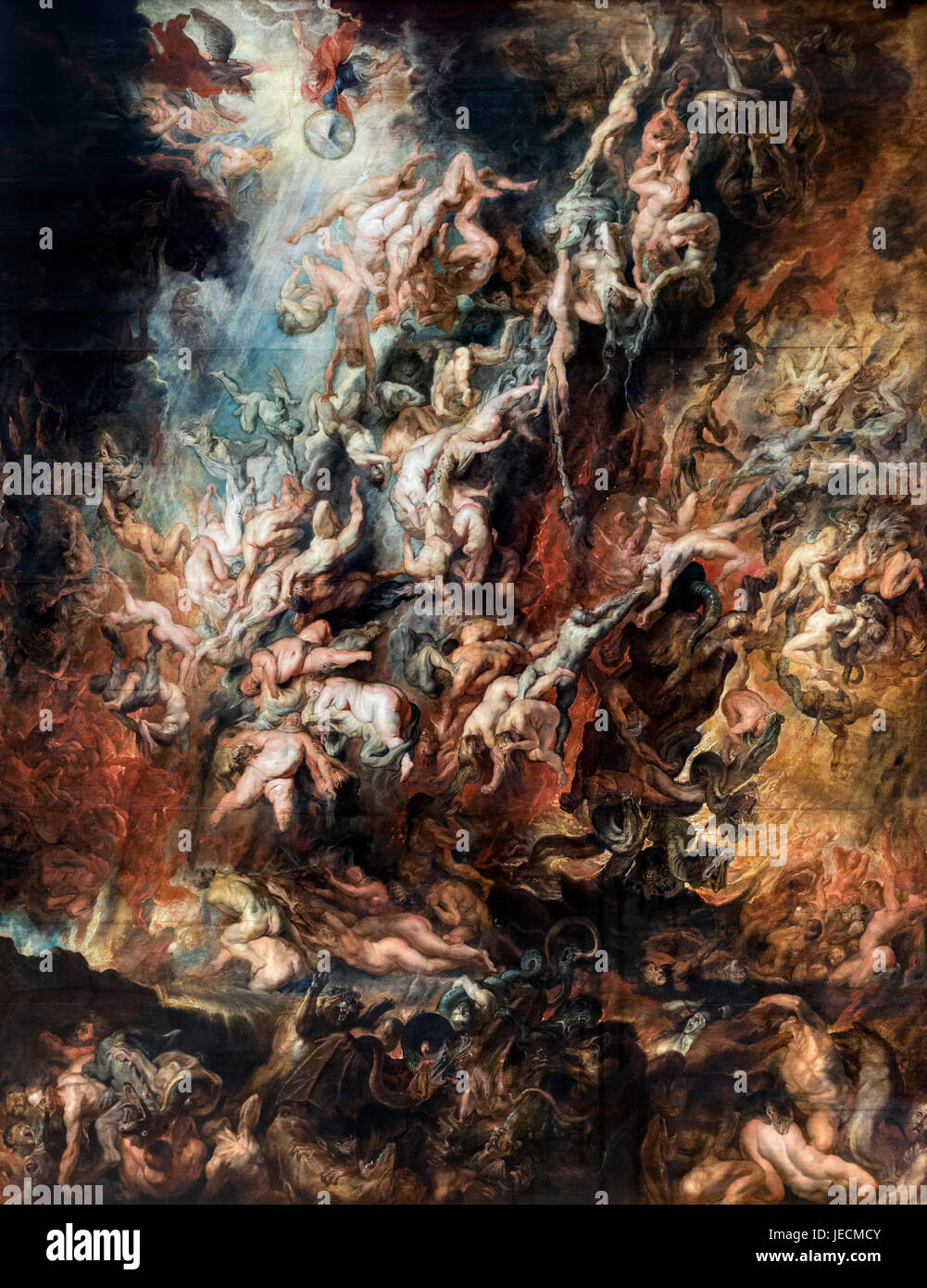 The Fall of the Damned by Peter Paul Rubens (1577-1640), oil on canvas, c.1621 - Stock Image