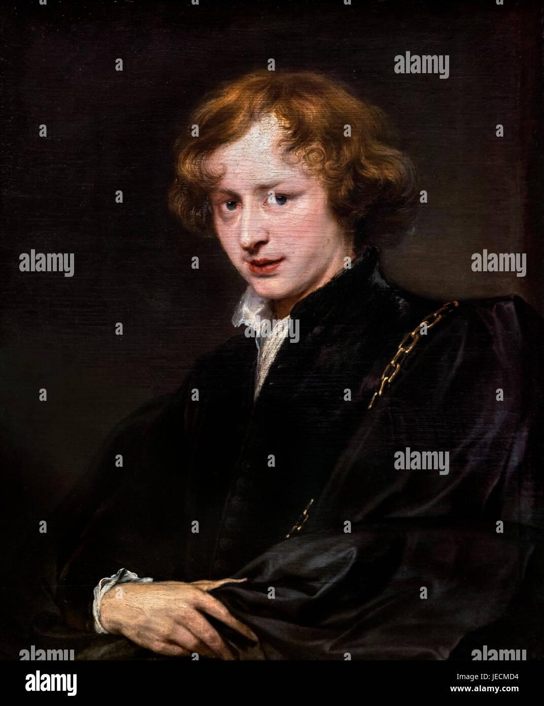Anthony Van Dyck (1599-1641), self portrait, c.1620-27 - Stock Image