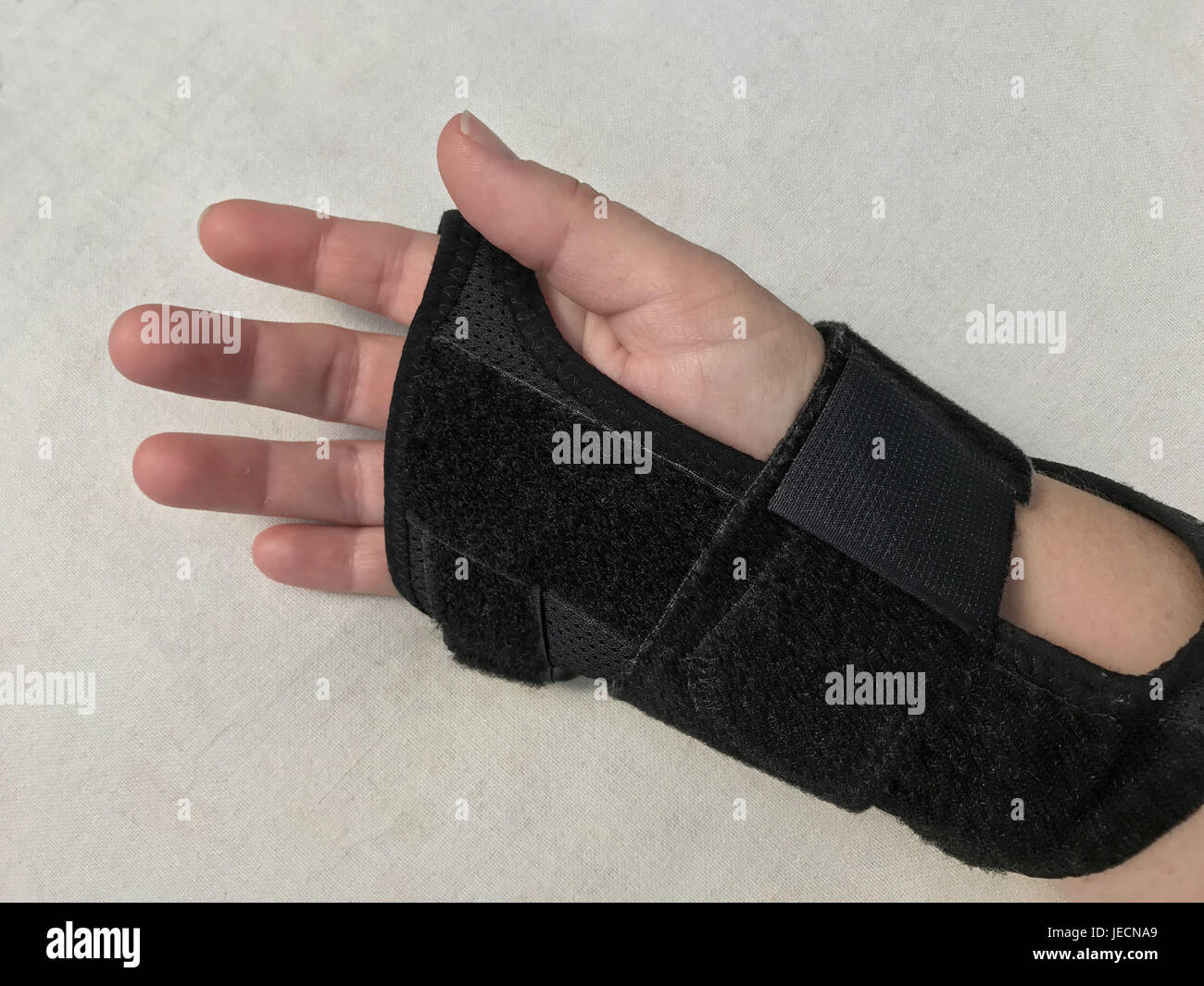 Right hand in hand cuff  inside - Stock Image