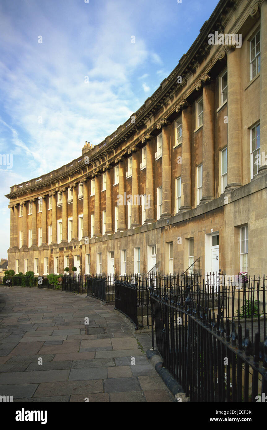 Great Britain, England, Somerset, Bath, royal Crescent, detail, Europe, destination, place of interest, structure, - Stock Image