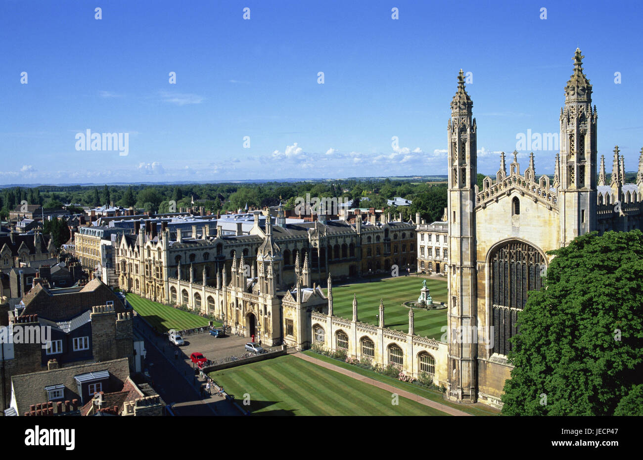 Great Britain, England, Cambridgeshire, Cambridge, town view, King's college, Europe, town, destination, place - Stock Image