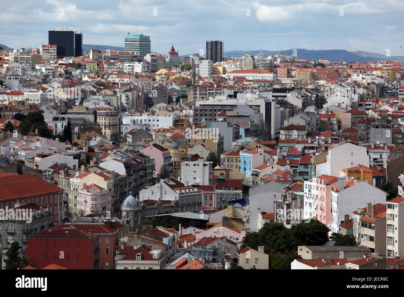 Portugal, Lisbon, city centre, overview, - Stock Image