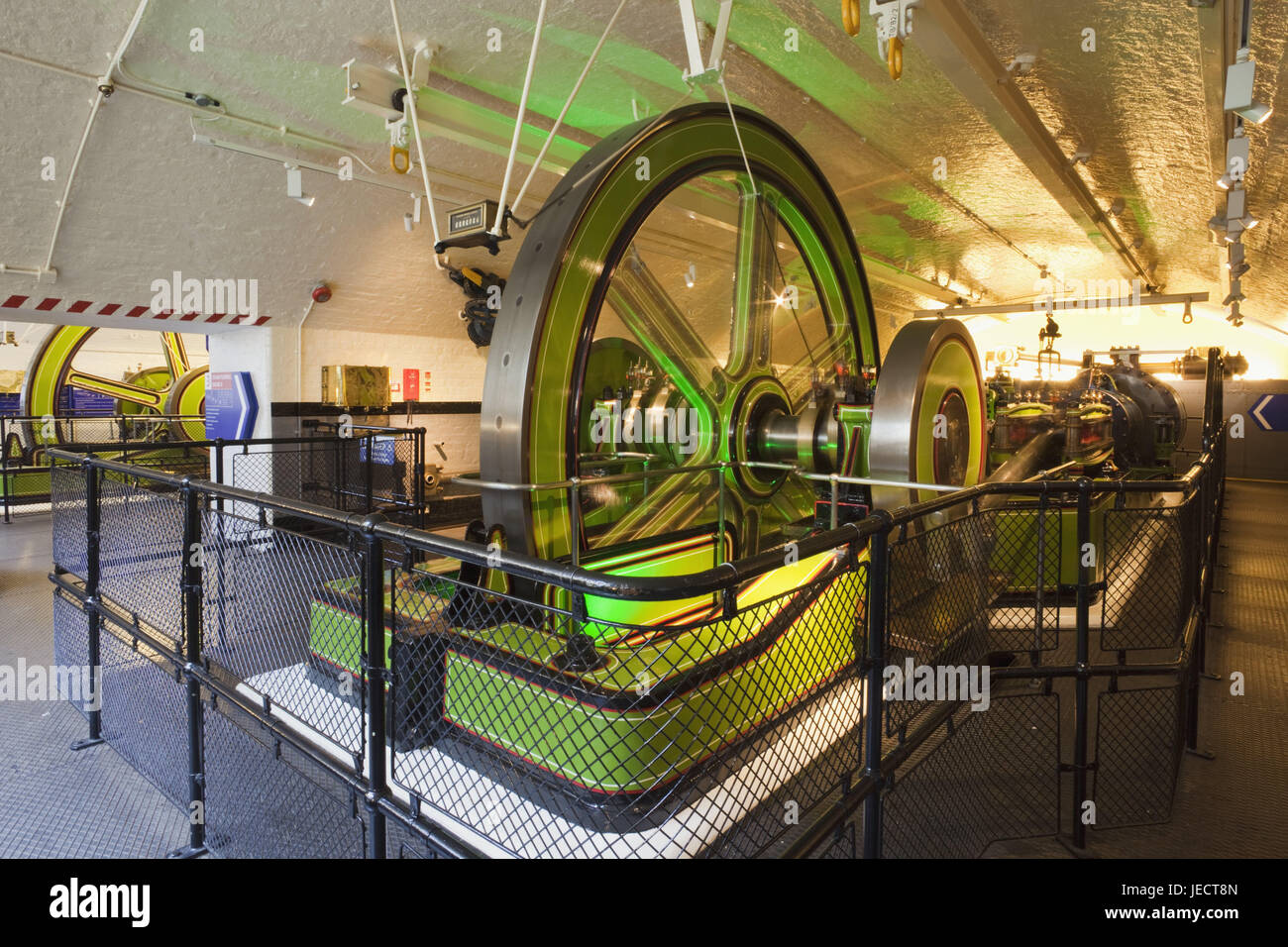 England, London, Tower Bridge, engine room, hydraulics capacity machine, architecture, structure, machine, technology, - Stock Image
