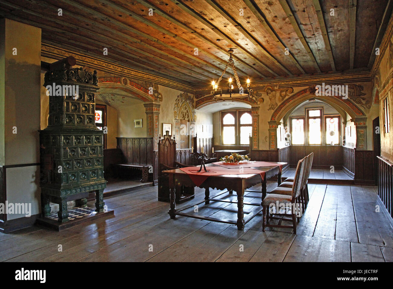 Germany, Baden-Wurttemberg, Neckar bishop's home, old castle, Trauzimmer, lock, architecture, interior view, - Stock Image