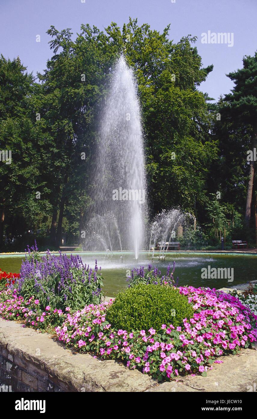 Germany, North Rhine-Westphalia, bath Lippspringe, imperial Karl's park, well, Teutoburger wood, health resort, - Stock Image
