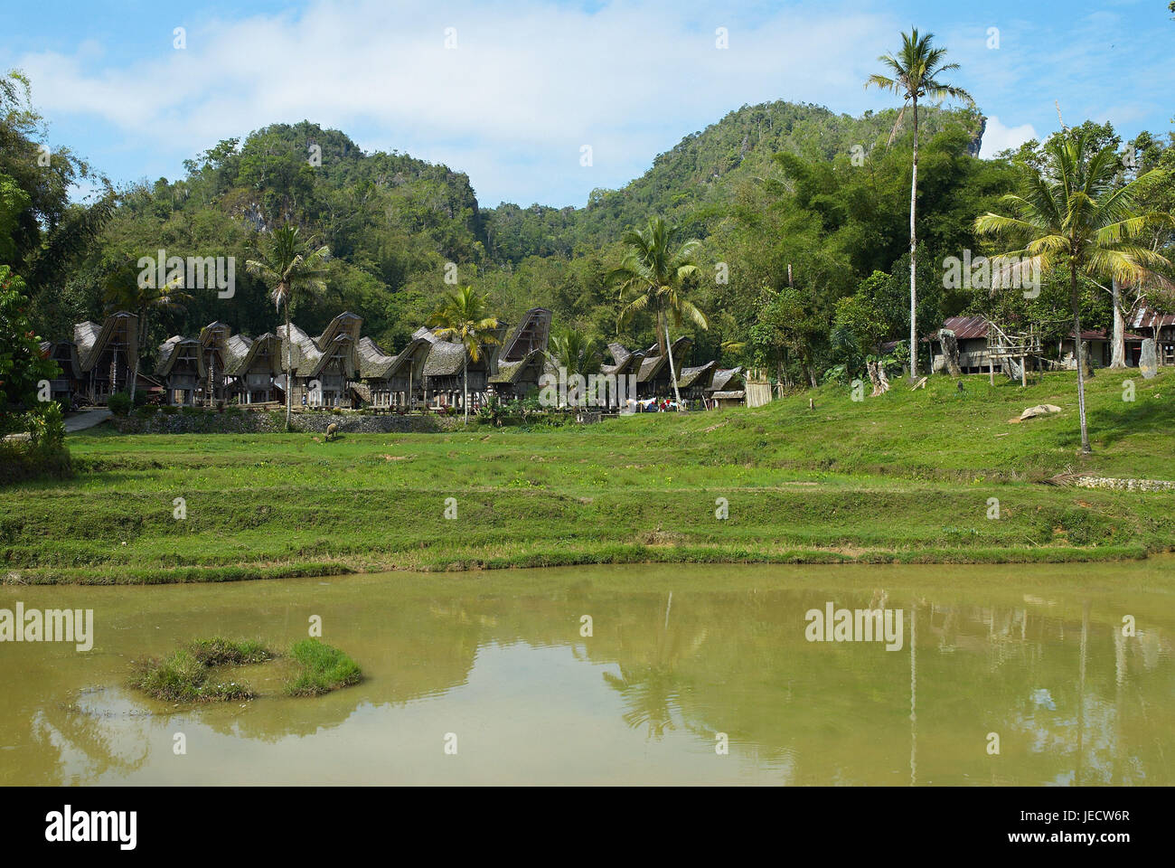 Indonesia, Sulawesi, The village Ke'te Kesu, - Stock Image
