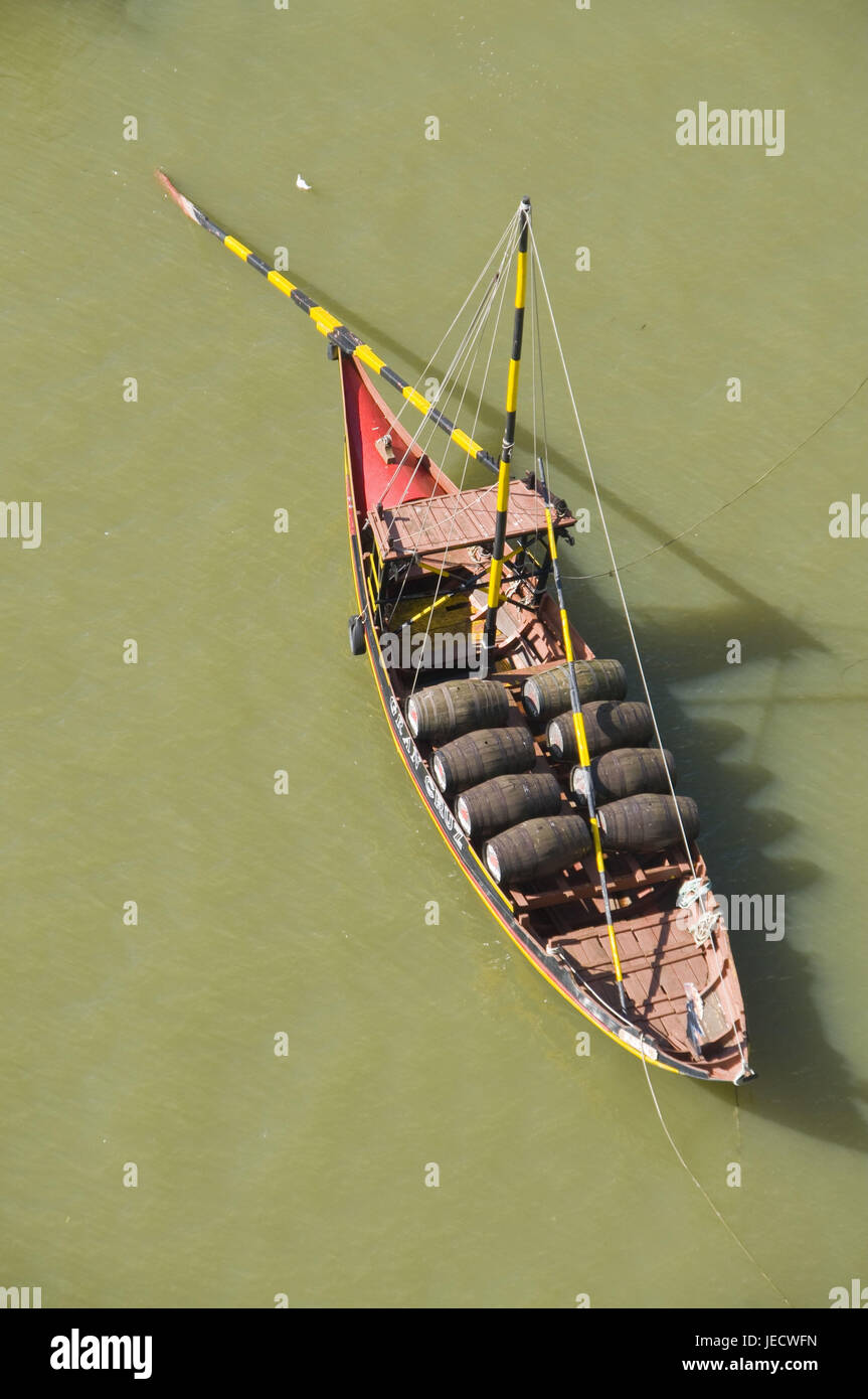 Portugal, postage, traditional ship, 'Barco of Rabelo', Stock Photo