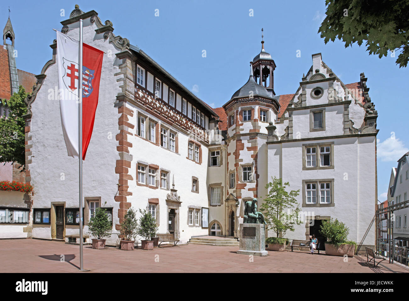 Germany Hessen Bad Hersfeld City Hall Outside Old Town Square