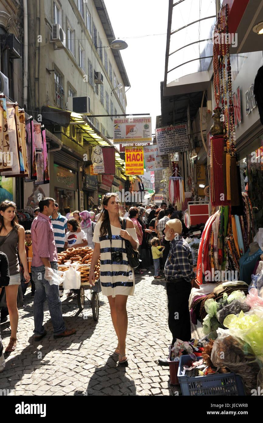 Turkey, Istanbul, part of town of Sultanahmet, Egyptian bazaar, Misir Carsisi, tourist, - Stock Image