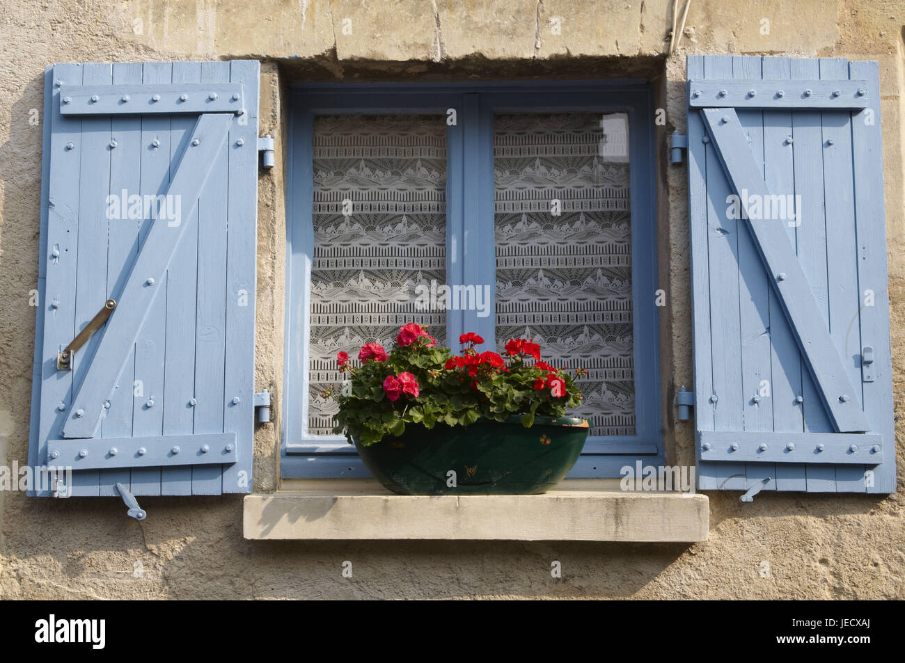 Window with window box, - Stock Image