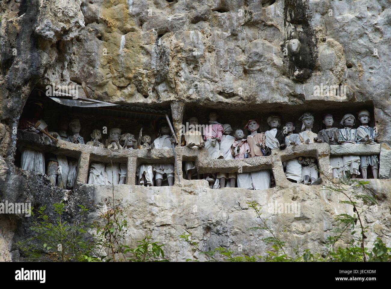 Indonesia, Sulawesi, Tana's goal nanny, tomb characters, - Stock Image