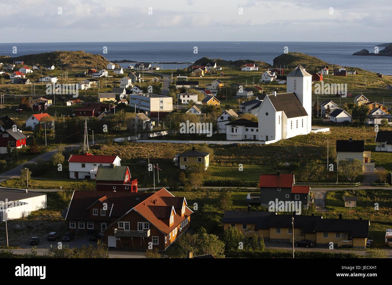 Sorland on the Lofoteninsel Vaeroy in Norway, - Stock Image