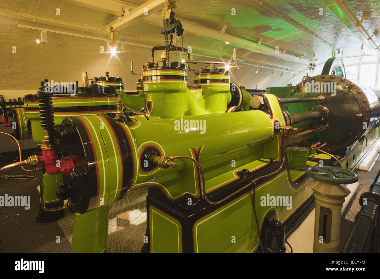 England, London, Tower Bridge, engine room, hydraulics capacity machine, architecture, machine, technology, inside, - Stock Image