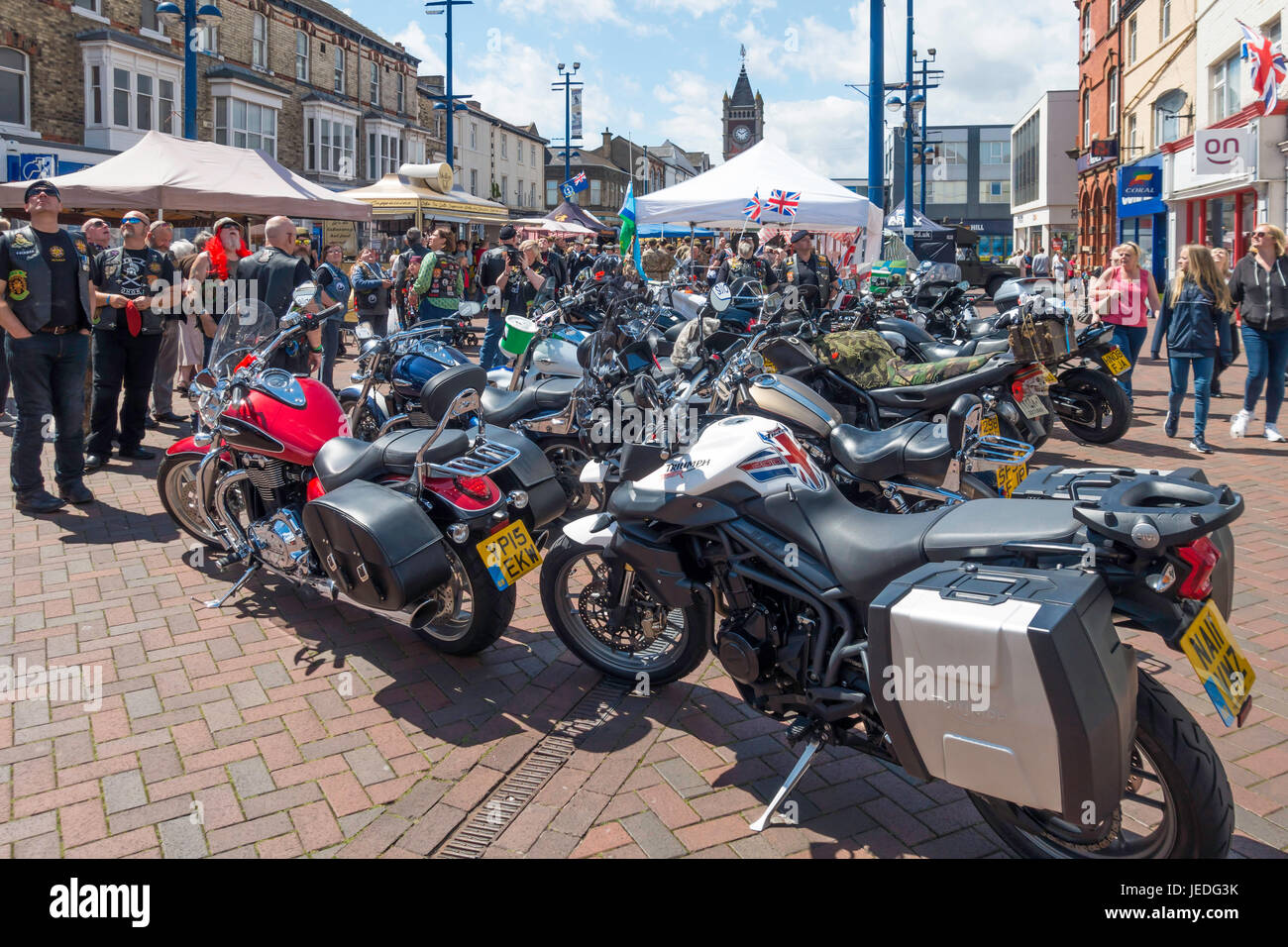 Redcar Cleveland North Yorkshire 24 June 2017:  Armed Forces Day was celebrated country wide today with events to - Stock Image