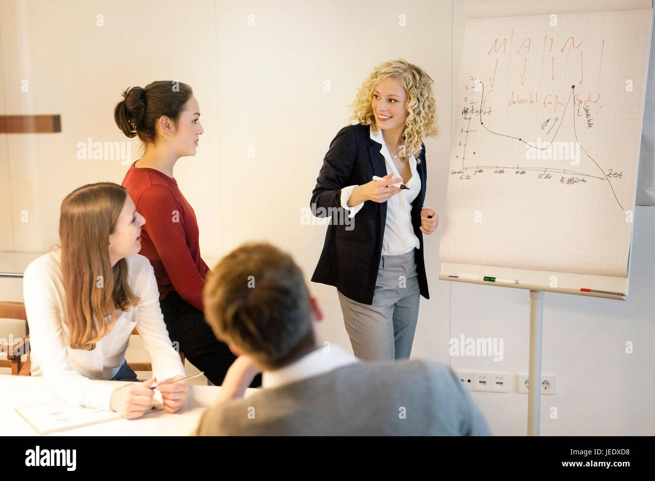 Business people attending a workshop in the office - Stock Image