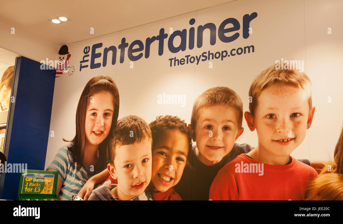 Wall poster Inside the Entertainer shop in Middlesbrough,England,UK - Stock Image
