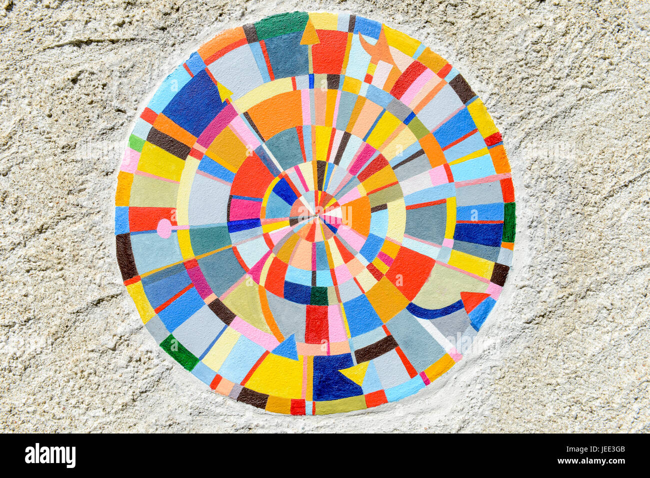 Colorful mandala for Background and texture Stock Photo