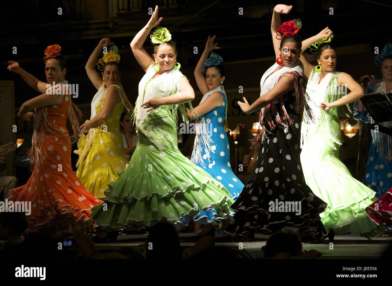 Spain, Andalusia, Granada, flamenco, dancers, - Stock Image