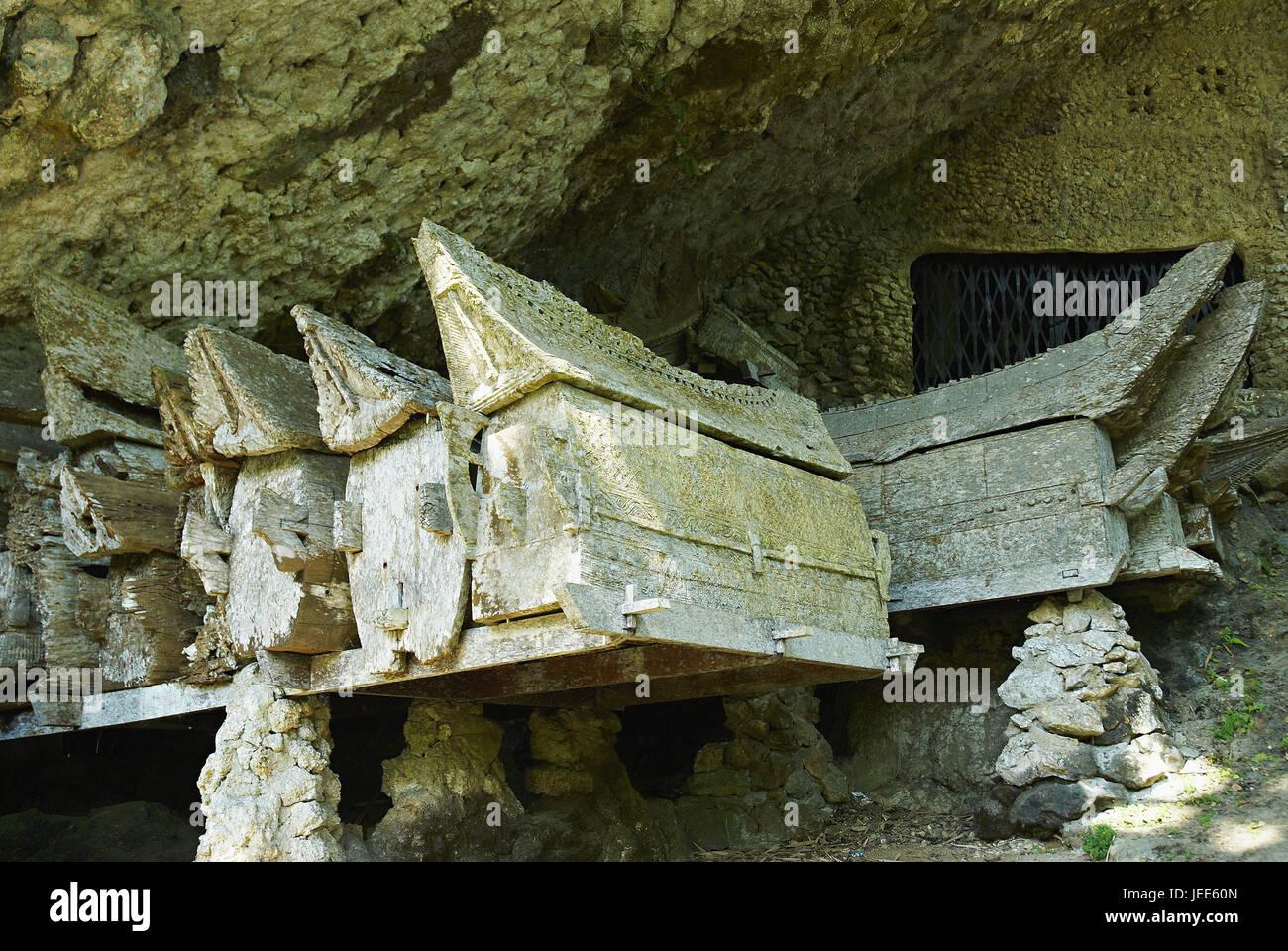 Indonesia, Sulawesi, Lemo, rock tombs, - Stock Image