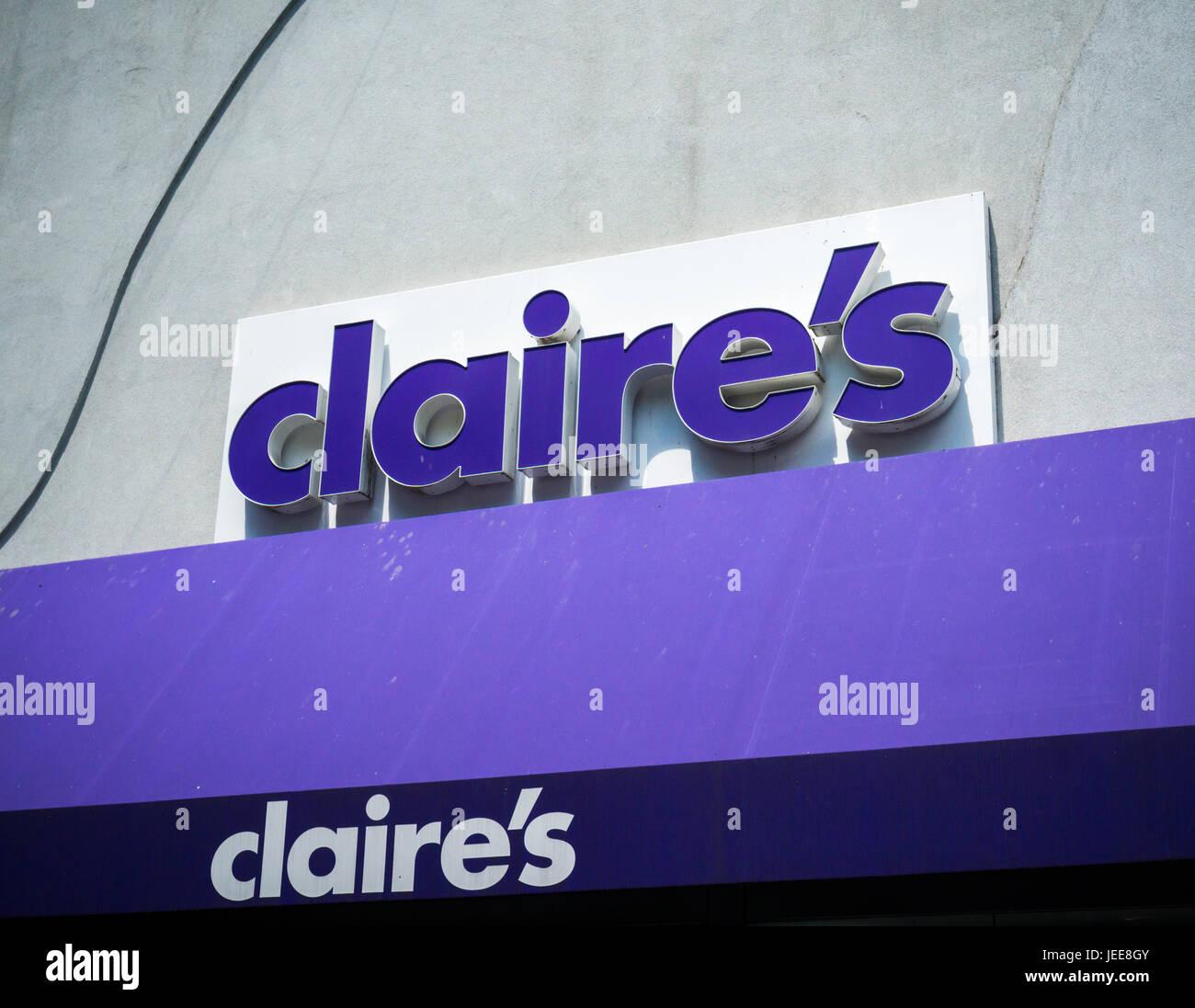 Claire's modeschmuck online shop