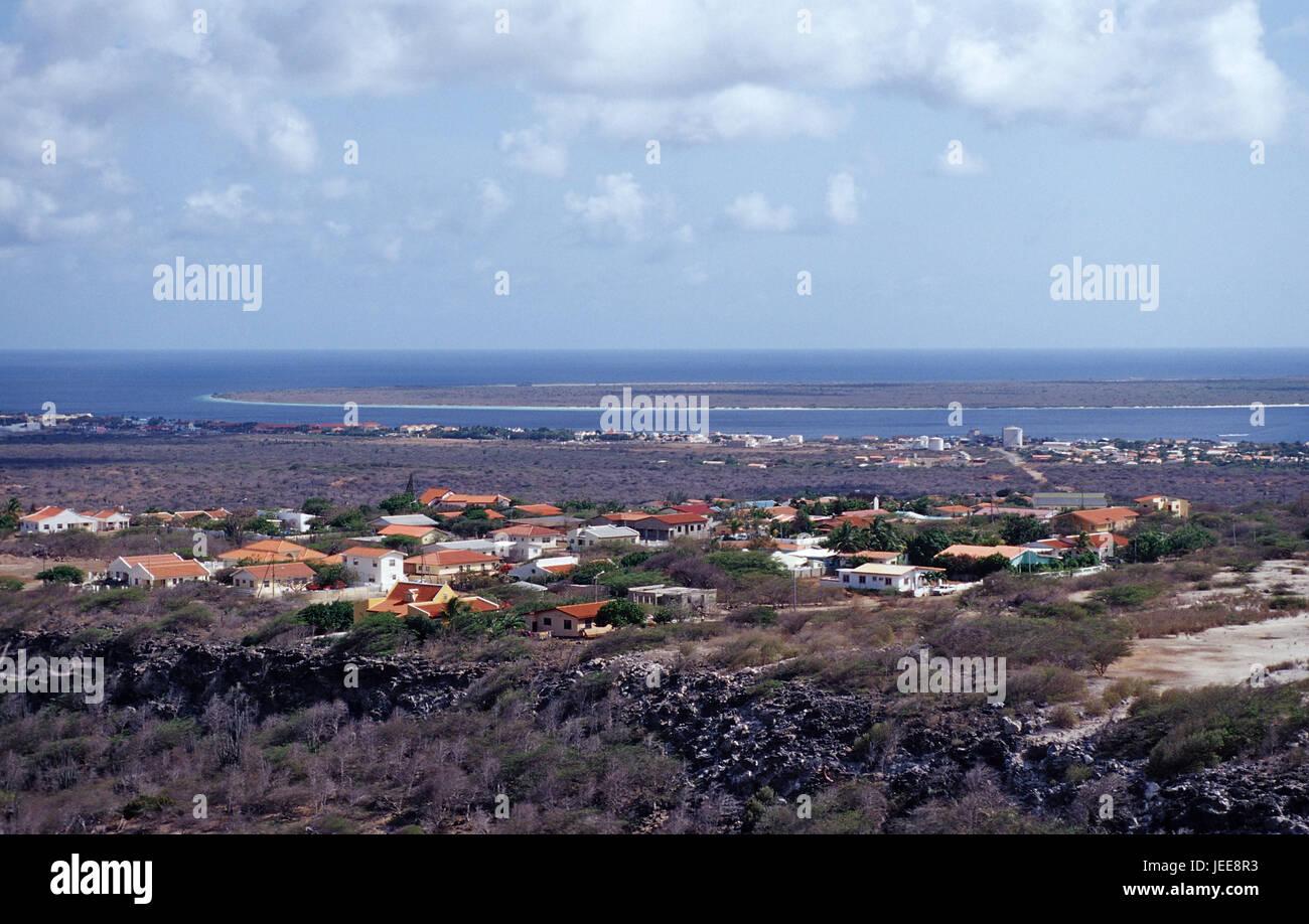 Kralendijk, local overview, island, Small voucher airs, the Caribbean, voucher airs, - Stock Image