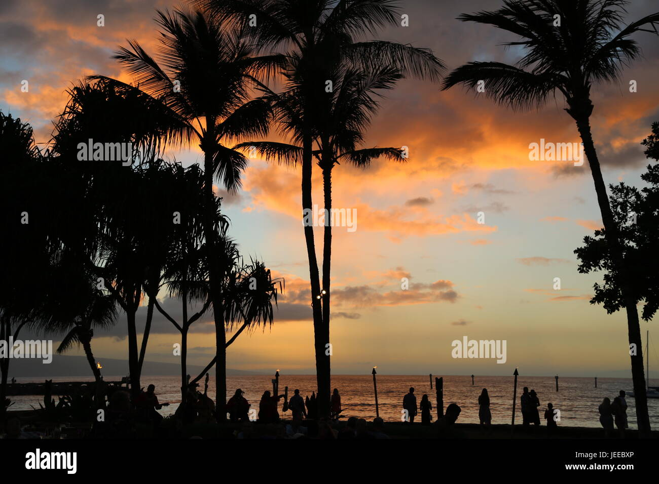 Luau Sunset - Stock Image