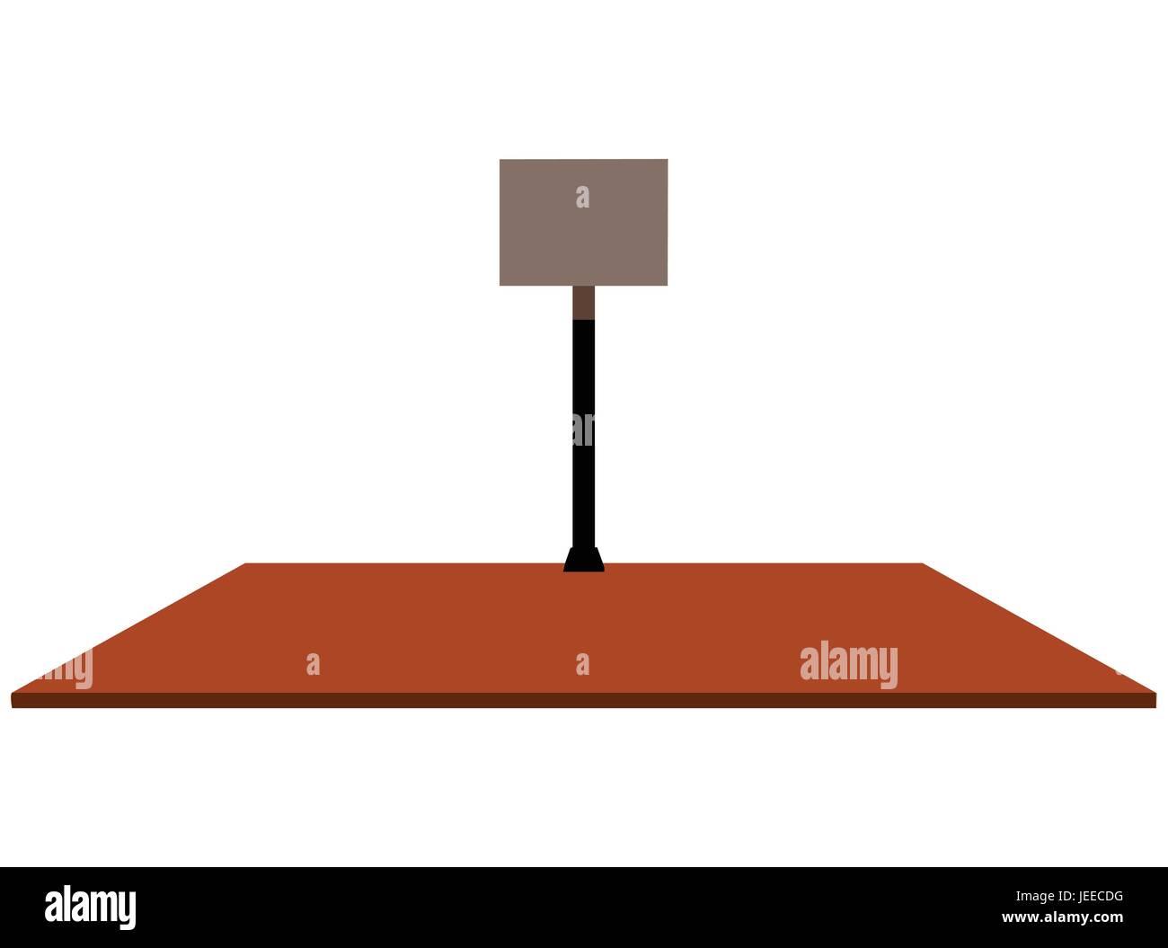 Eps 10 Vector Illustration Of Basketball Hoop On White Background Diagram