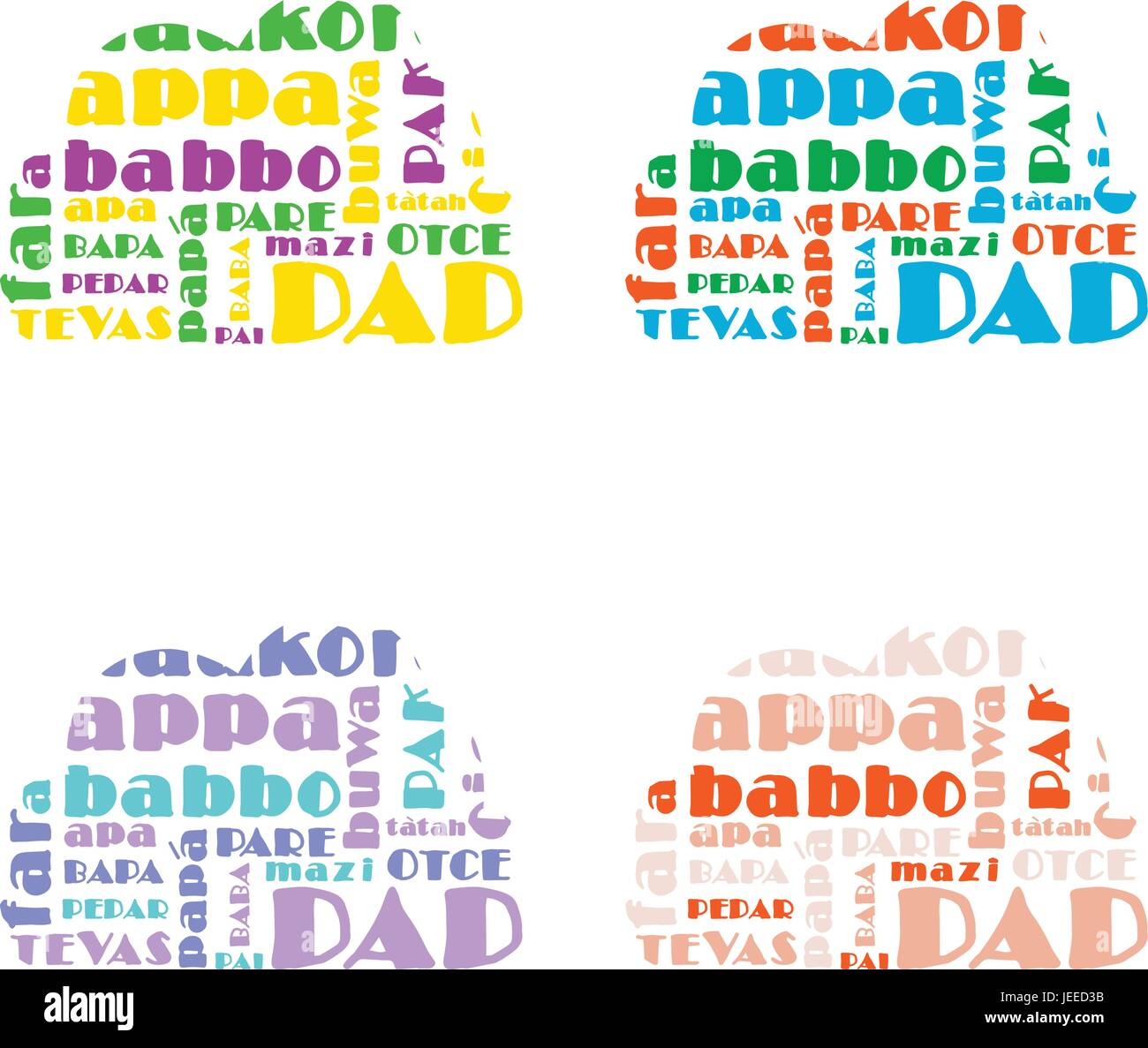 Greeting card with father day message stock vector art greeting card with father day message m4hsunfo