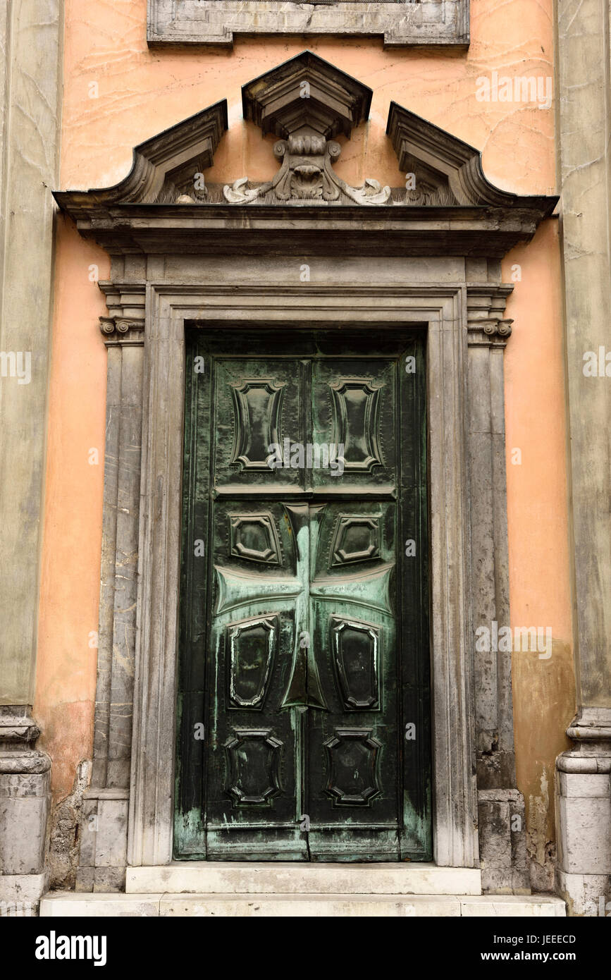 size 40 dc25d 6df95 Bronze Front door with Maltese cross at Krizanke Church of ...