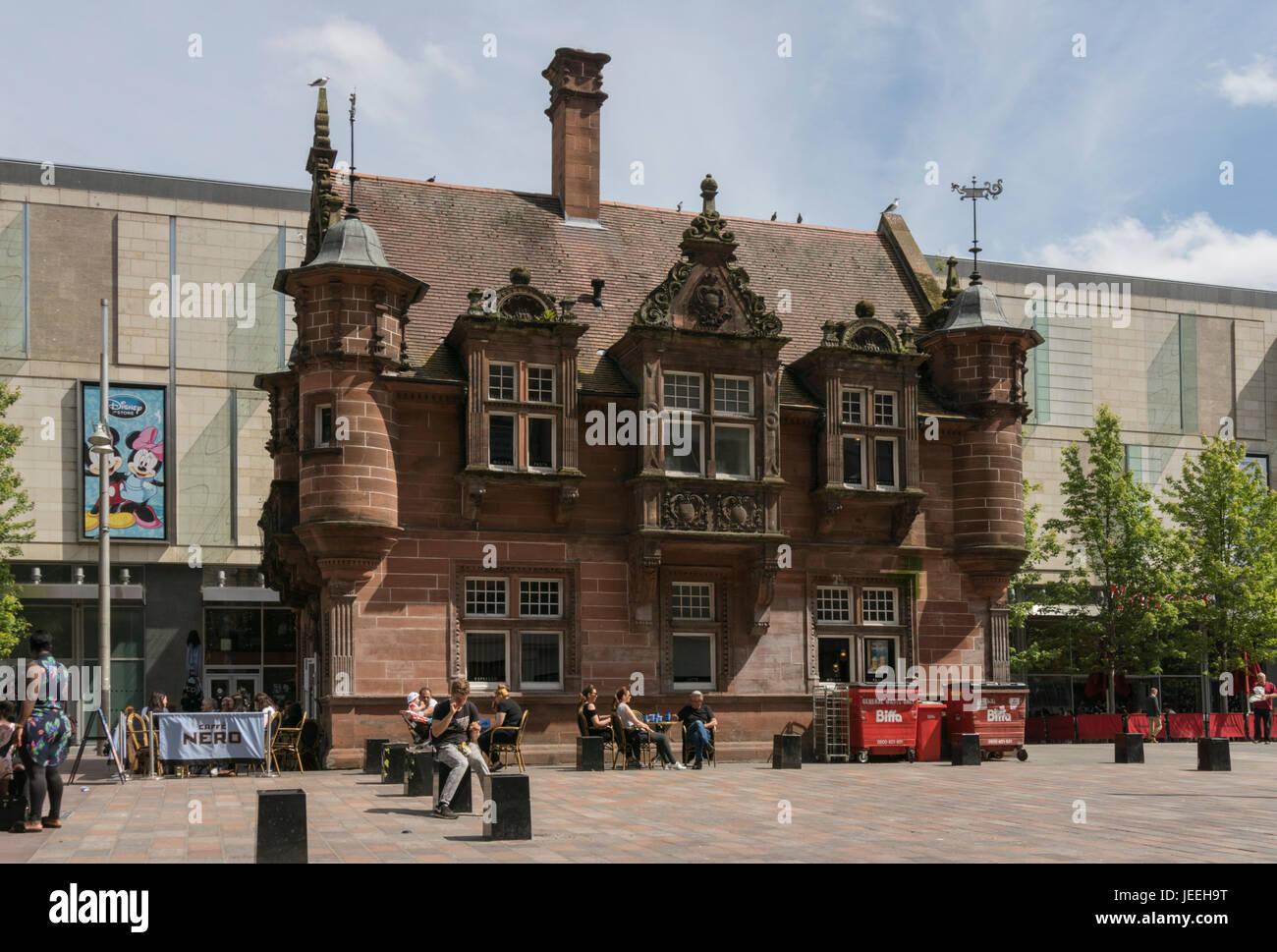 Cafe Nero, ex subway ticket office, St Enoch square, Glasgow, Scotland, United Kingdom, - Stock Image