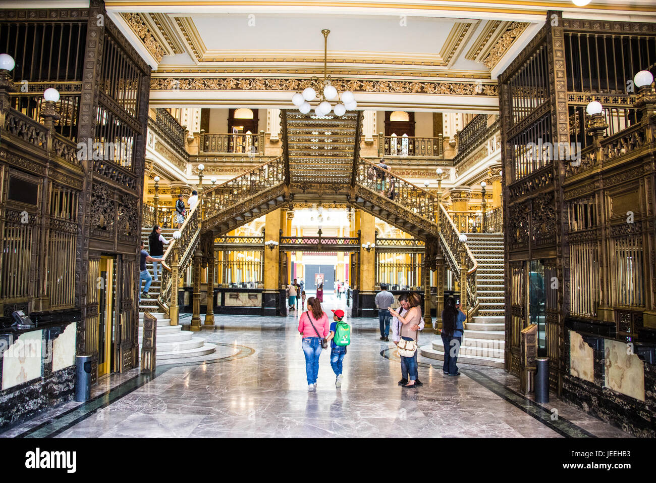 Palacio De Correos De Mexico or Postal Palace of Mexico City, Mexico - Stock Image