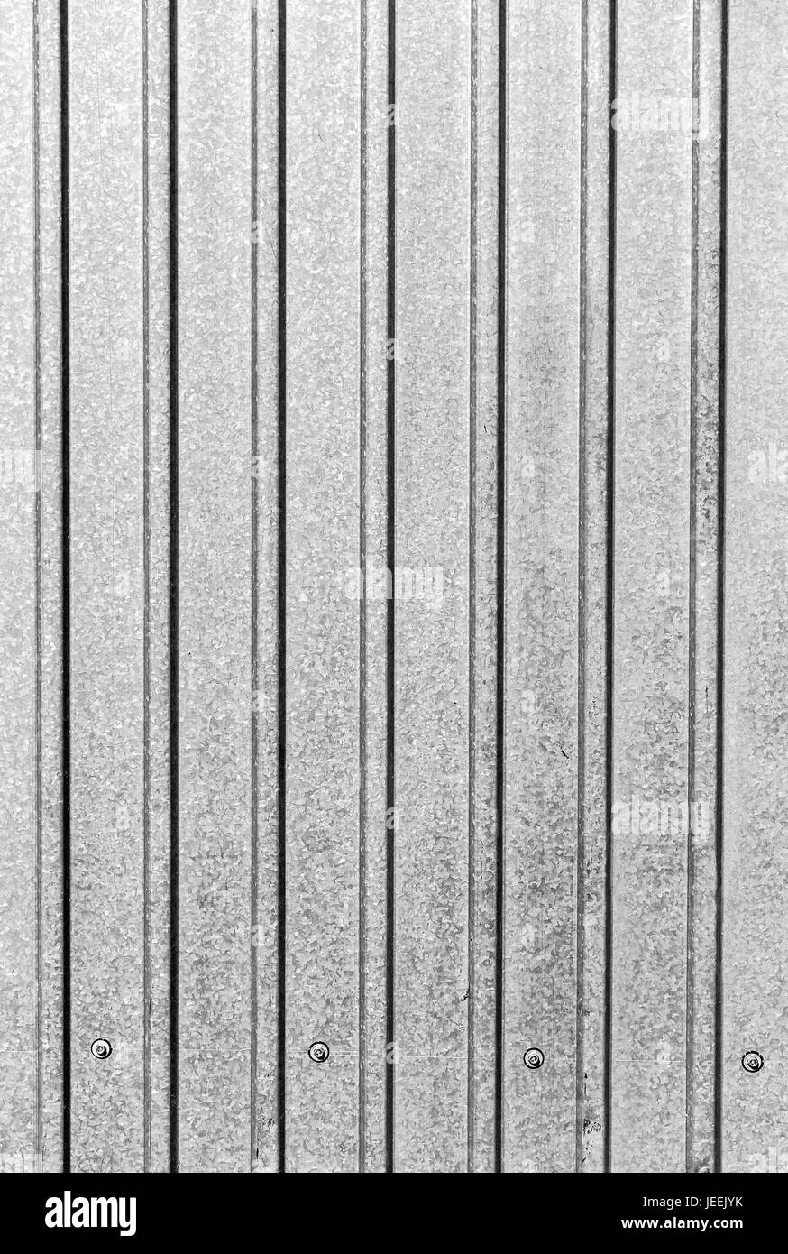 Part of the surface of the profiled sheet of galvanized steel as the background. - Stock Image