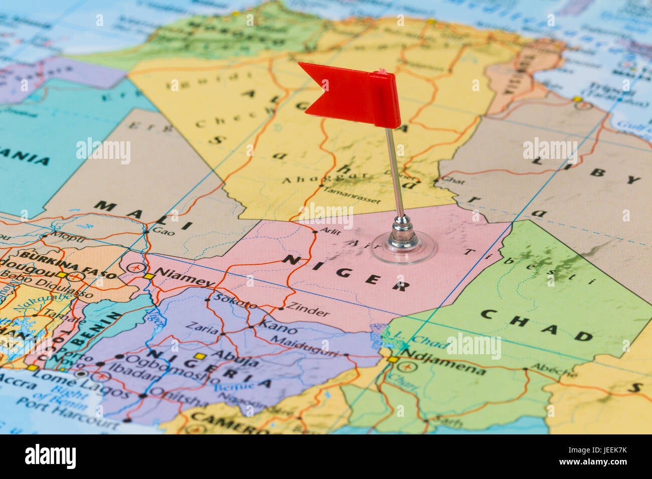 Pinned Niger Map Stock Photos & Pinned Niger Map Stock Images - Alamy