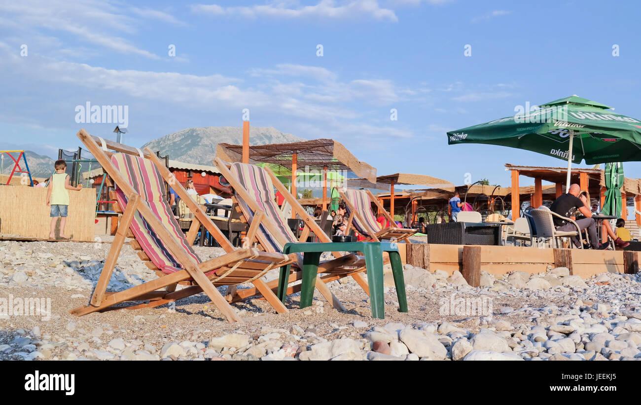 At the beach of Bar, Montenegro Stock Photo