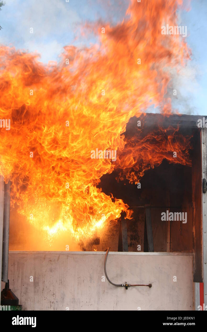 Building fire - Stock Image