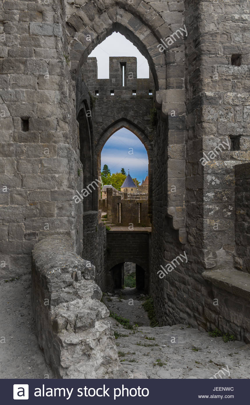 Carcassonne Portals - Stock Image