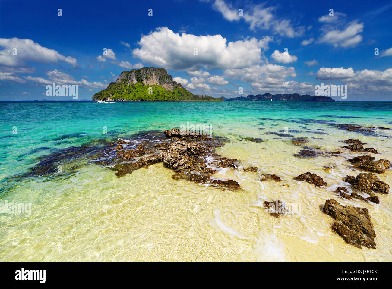 Tropical beach, Andaman Sea, Thailand - Stock Image