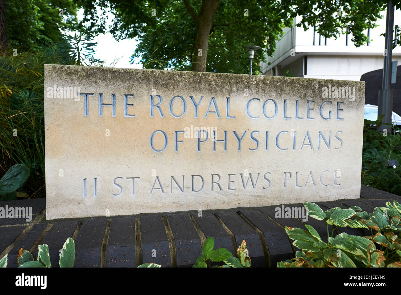 Royal College Of Physicians, St Andrews Place, Regents Park, London, UK - Stock Image