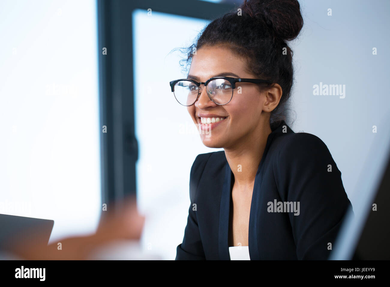 Team of business person works together - Stock Image