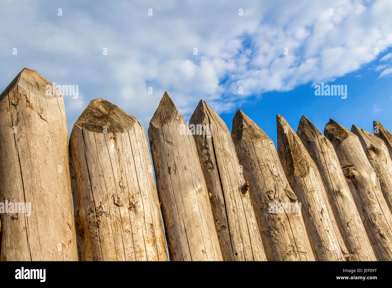 Weathered Picket Fence Stock Photos & Weathered Picket