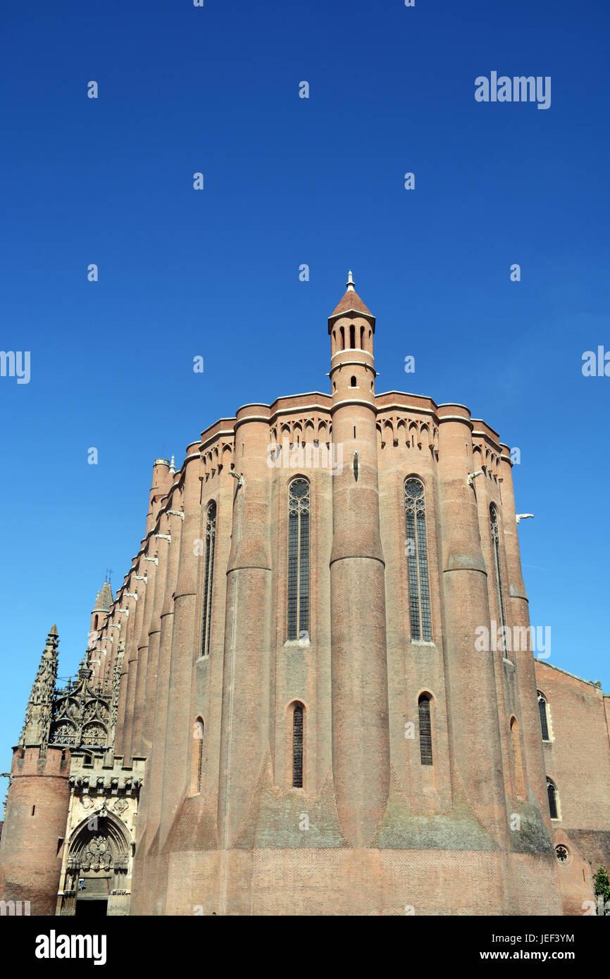 Sainte-Cecile cathedral, Albi, Tarn, Occitanie, France - Stock Image