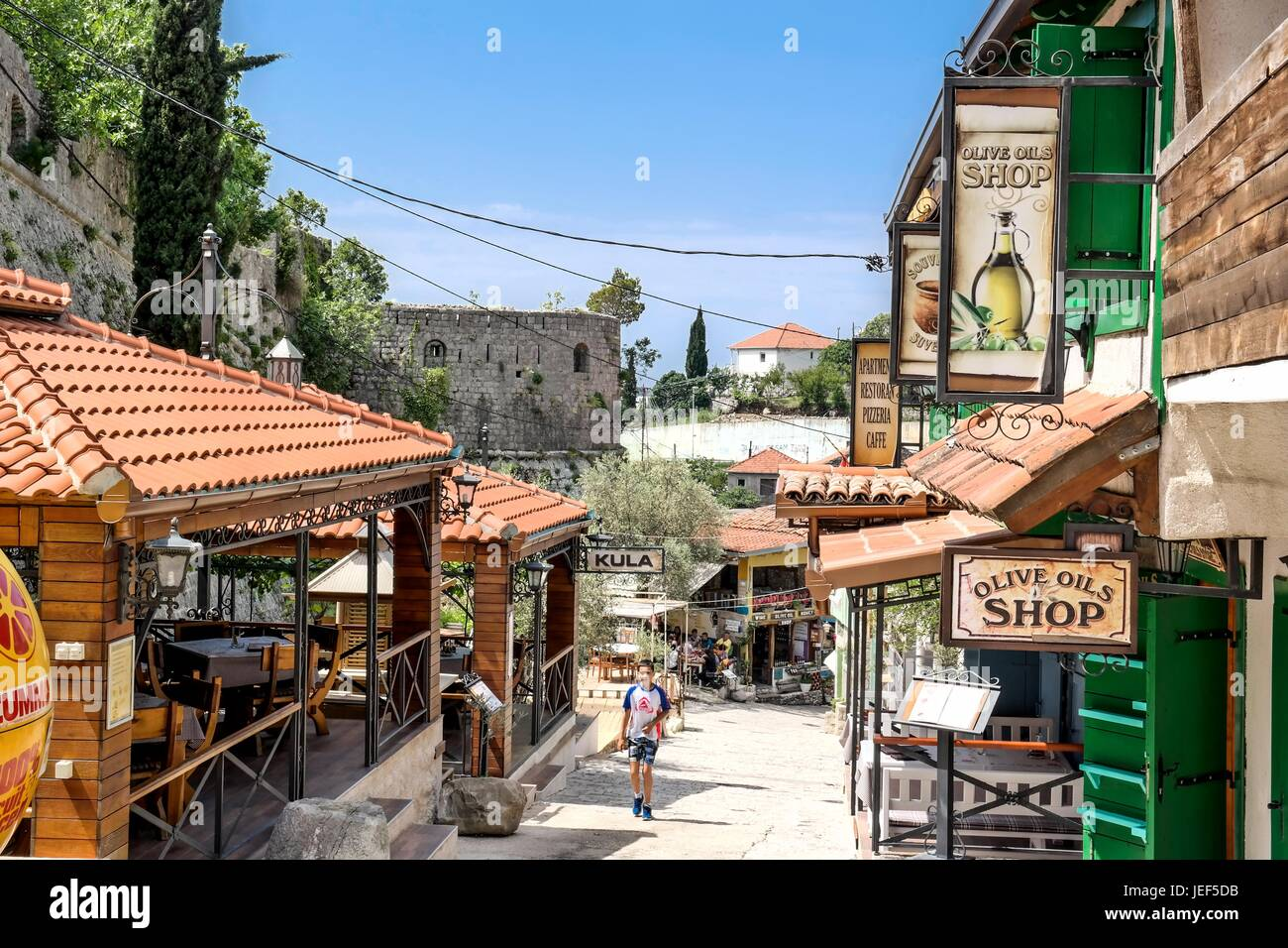 In the ruins of Stari Bar, Montenegro. - Stock Image