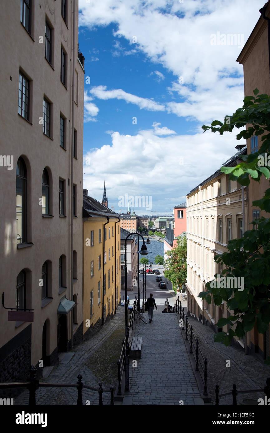 Stockholm is the capital and the biggest town of Sweden., Stockholm ist die Hauptstadt und die größte Stadt Schwedens. Stock Photo