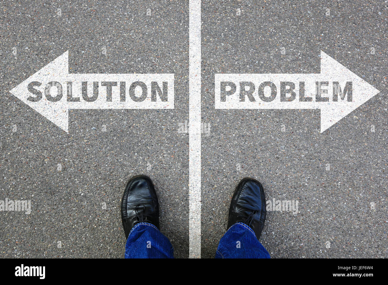 Finding solution problem businessman business concept problems success - Stock Image