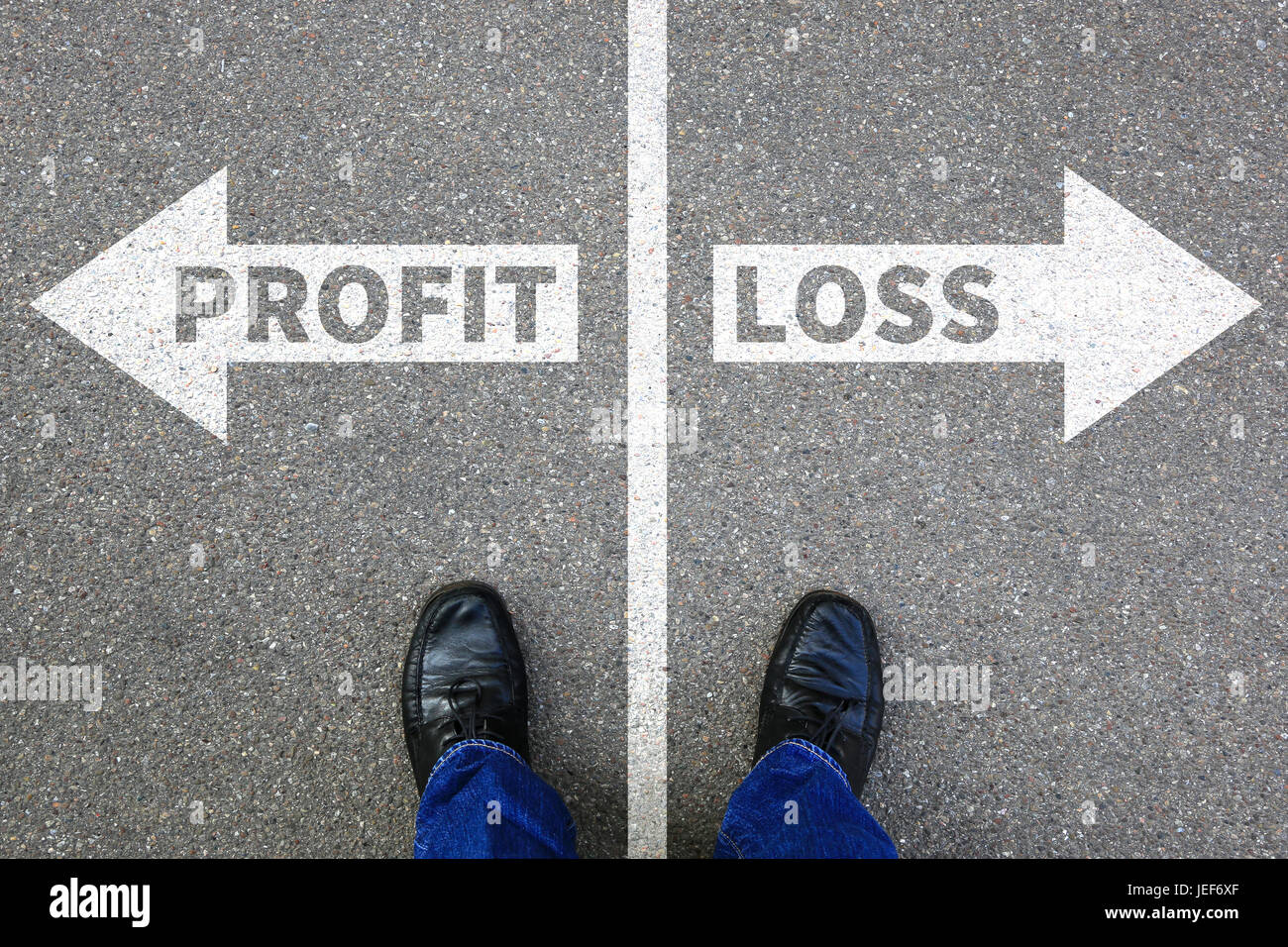 Loss and profit finances financial success company businessman business concept successful - Stock Image
